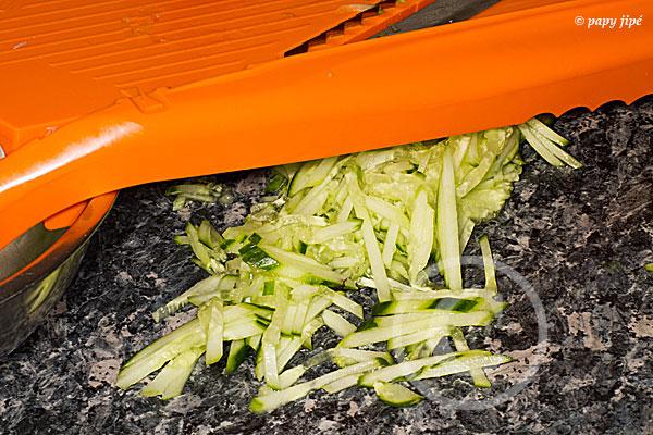 Salade de concombre. L'énigme de la taille