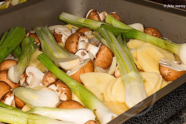 Disposer des couches de légumes